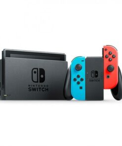 Nintendo Switch with Neon Blue and Neon Red Joy‑Con (2019 Version) with Nintendo Switch Game Ring Fit Adventure [English]